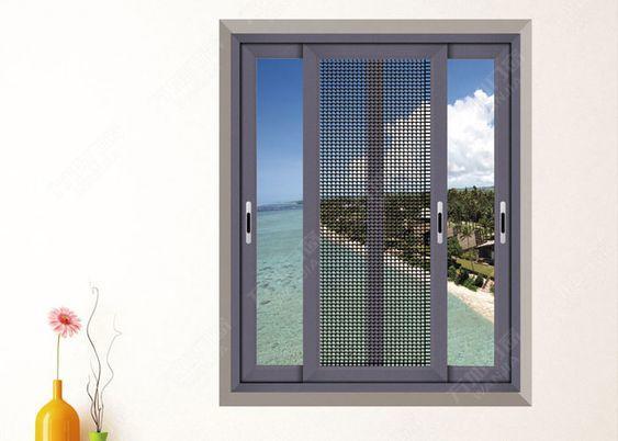 Aluminum Frame Double Glazed Sliding Window With Mosquito Screen
