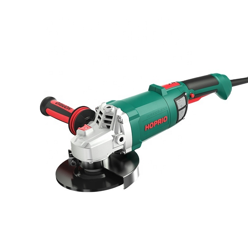Hoprio 220V 2000W heavy industry corded brushless angle grinder wholesale