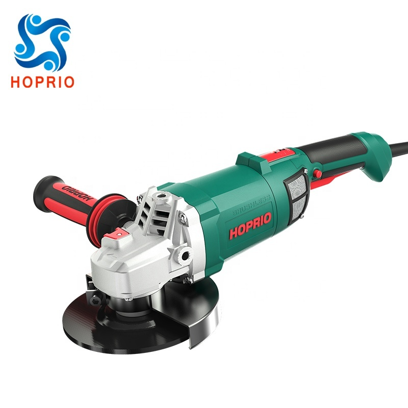 Hoprio 6 inch high effciencyhand brushless angle grinder wholesale