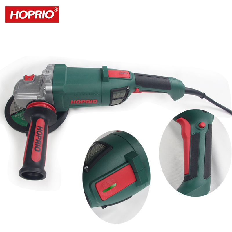 Hoprio heavy industry 6 inch portable angle grinder with brushless motor