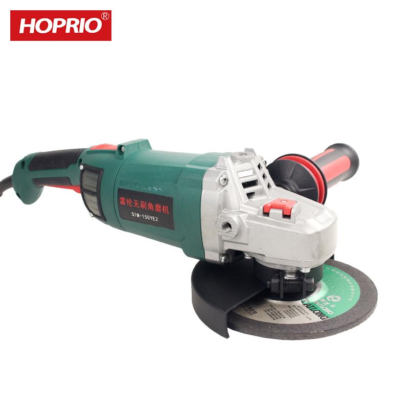 Hoprio S1M-150YE3 New Industrial220V 2000W 150mm Brushless Electronic Angle Grinder Polishing Machine