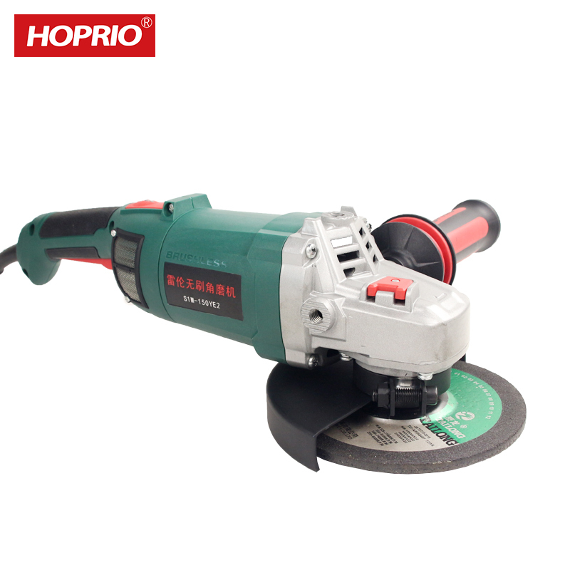 HOPRIO 150mm 6 Inch Brushless Grinder Power Tools Electric Corded Angle Grinder Tool