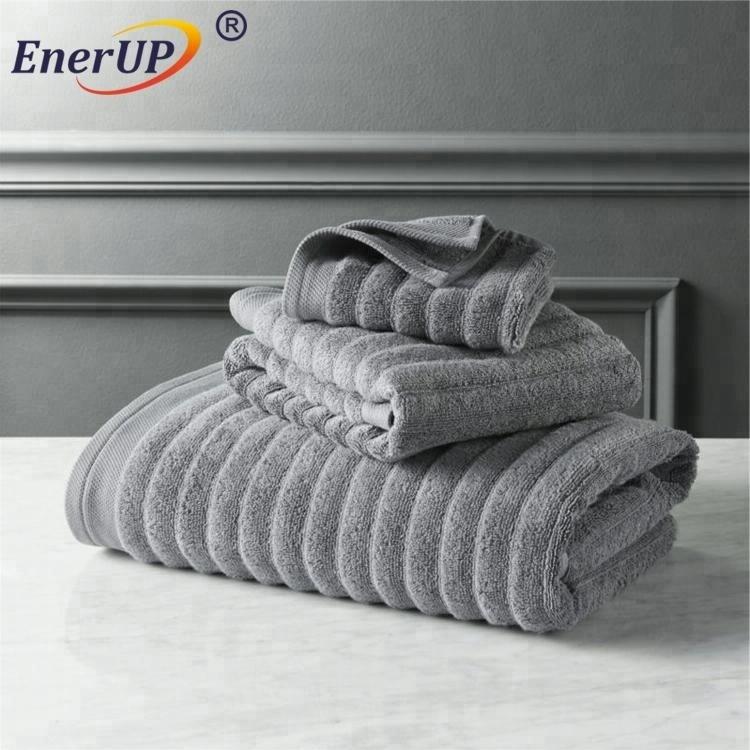 spa blue and white striped cabana bath towel