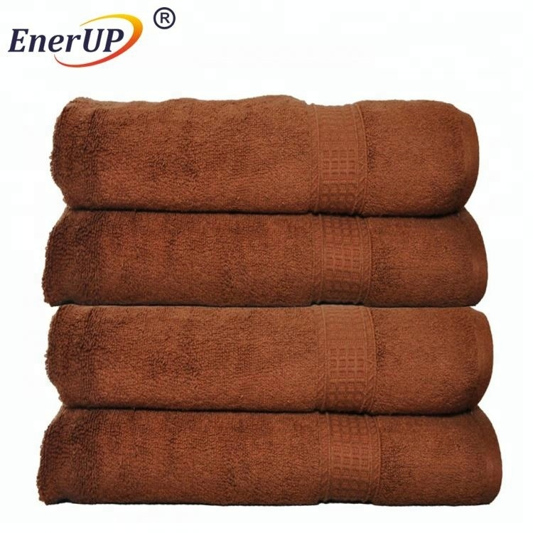 custom advanced brown home hand towel with logo