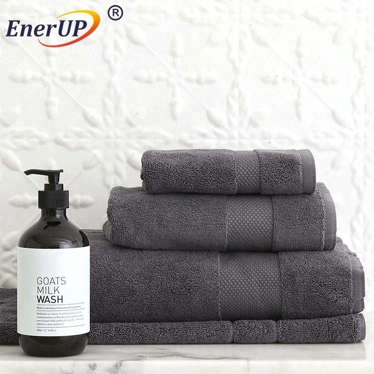logo debossed cool feeling gym sports bath towels