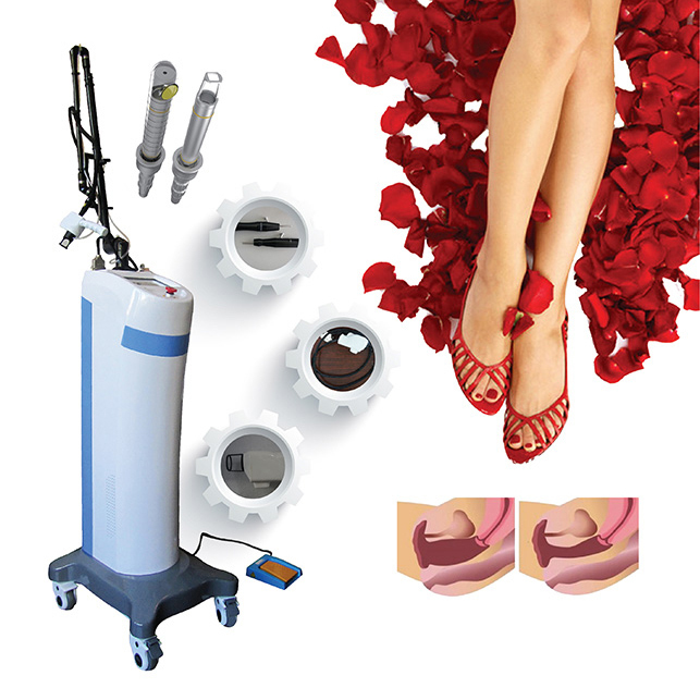 Vertical CO2 fractionallasergynecology professional fractional CO2 10600nm vaginal tightening laser