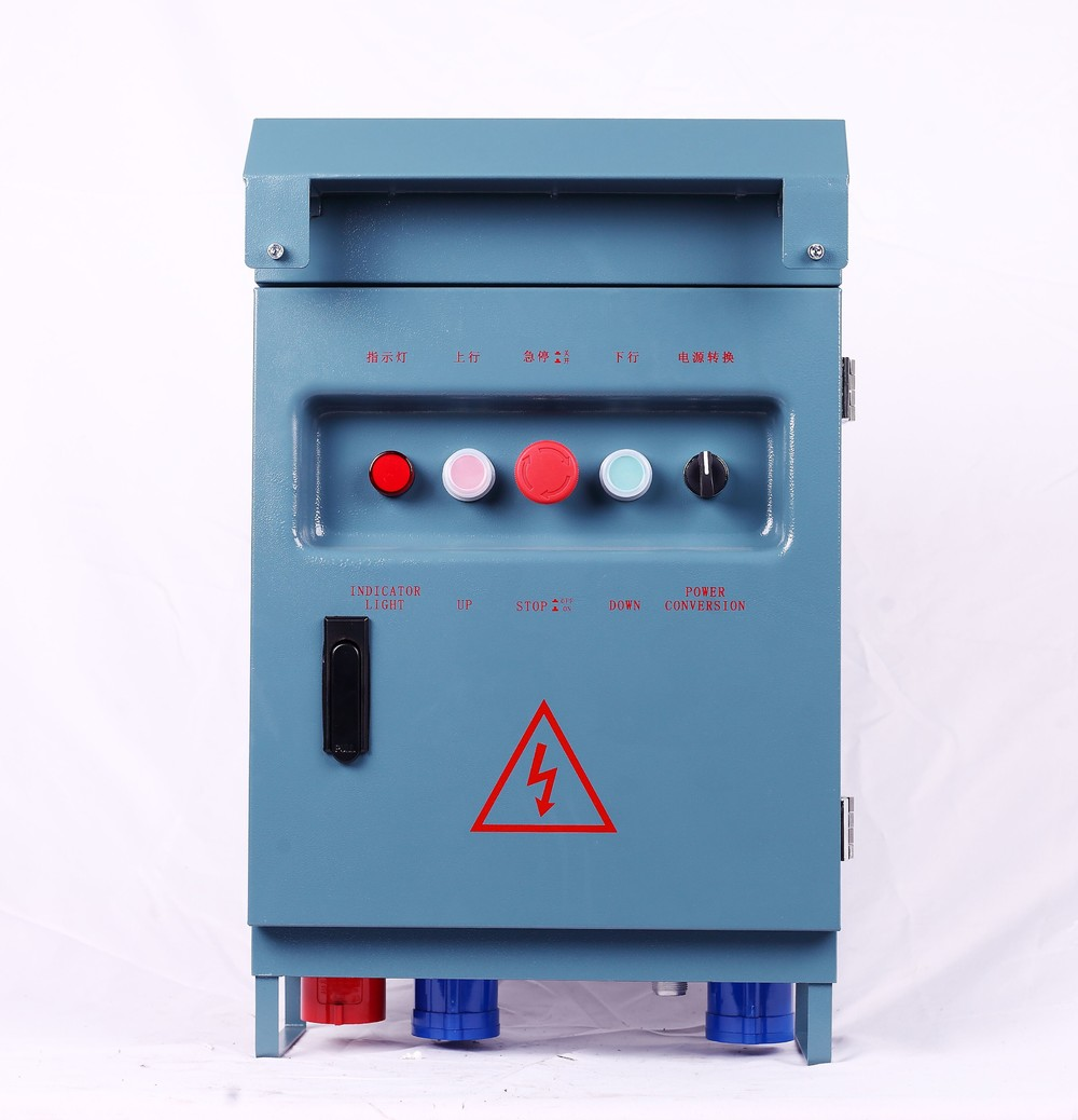 Three Phase Electric Control Box With Magnetic AC Contactor 0601 For Suspended Construction Platform