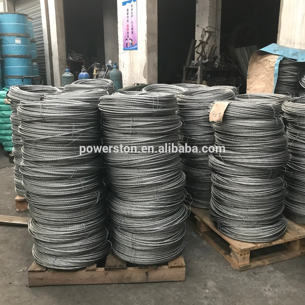 4*31MM Steel Wire Rope used for working cradle/gondola