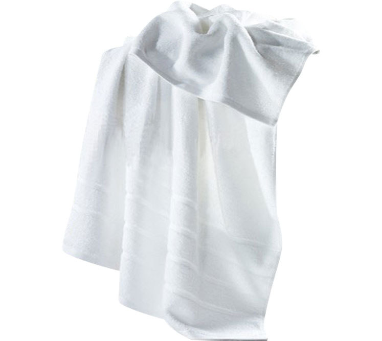 Free Sample Hotel 100% Cotton White Bath Towel Sets for Adults