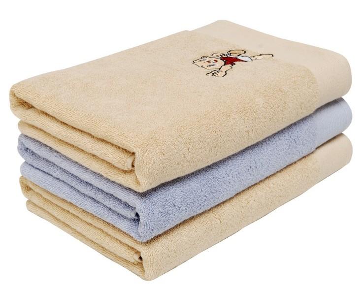 Wholesale 100% cotton fabric plain dyed face towel