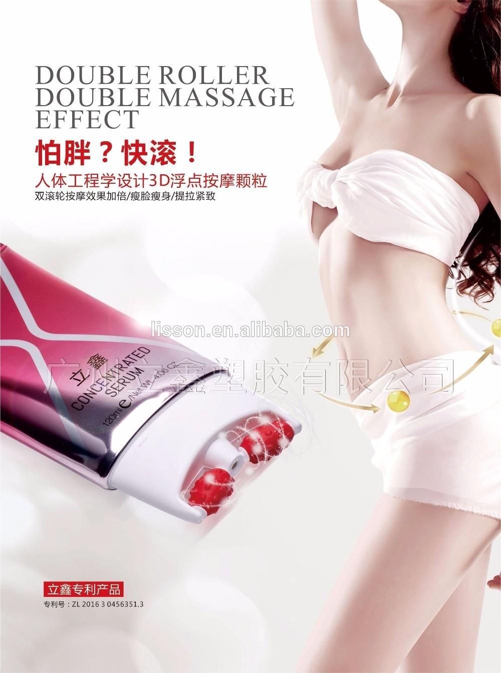 Cosmetic Container Tube Wholesale Double Roller Massage Tube Laminated body cream package Tube