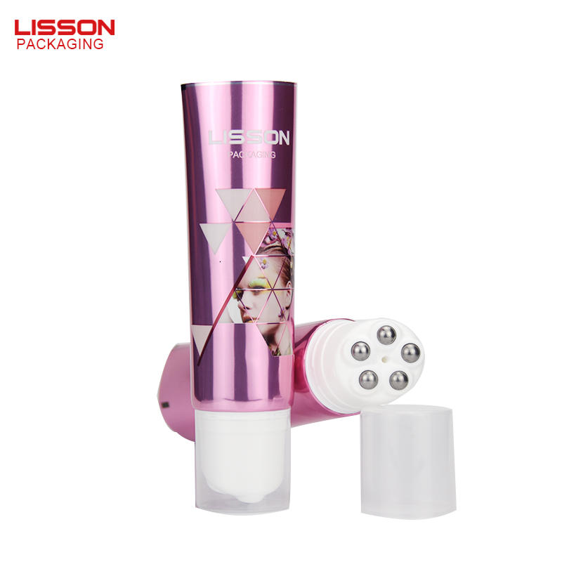 100ml stainless steel ball squeeze tube packaging for body massage