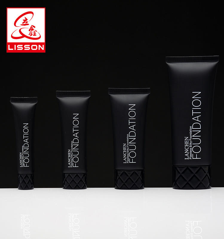 D50mm Matte Black Plastic Cosmetic Tubes Packaging with special cap