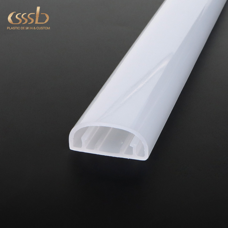 led light strip plastic frost channel with PC or PMMA materials
