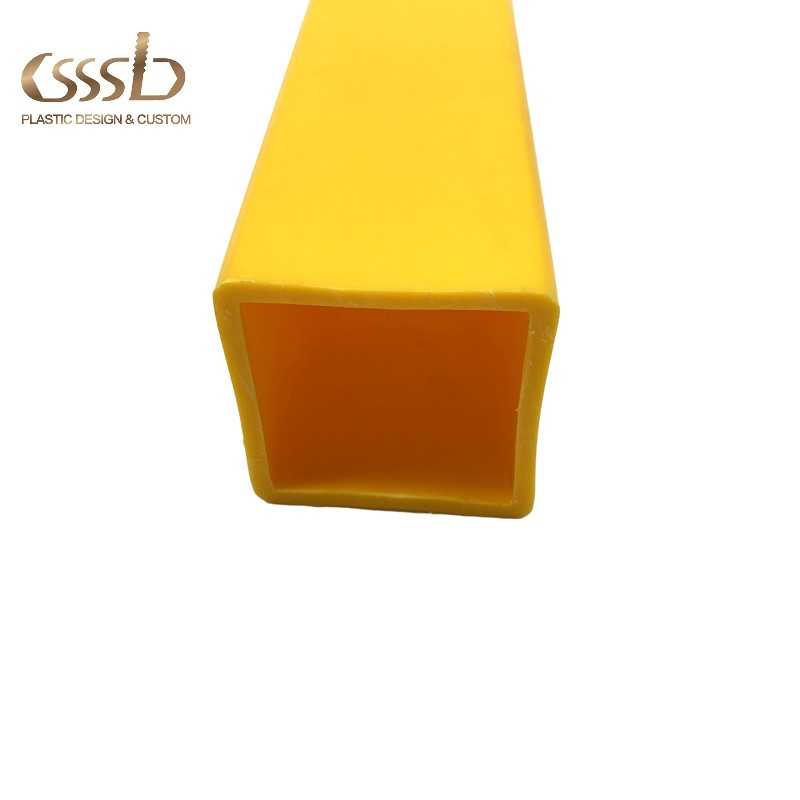 Yellow ABS extruded square pipe