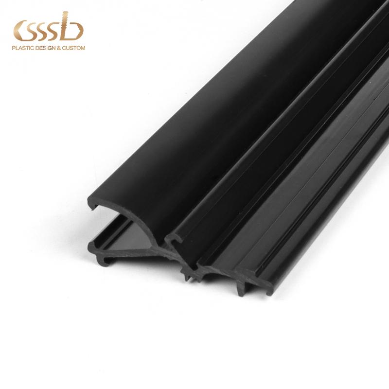 Black ABS divider profile for goods shelf
