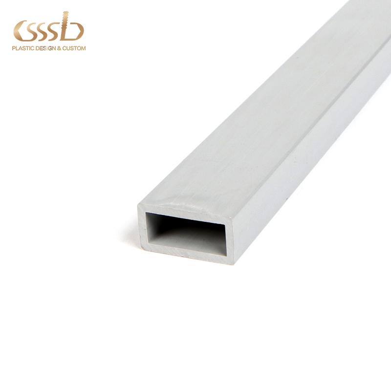 PVC rectangular grey tube for frame