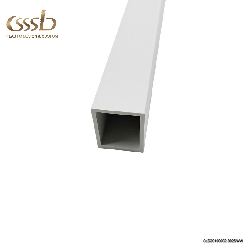 Square plastic tube for frame and fence from 1inch to 5inch
