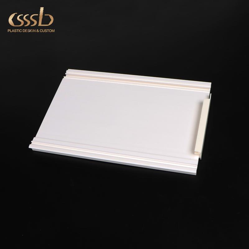 Plastic PVC rectangular profile for display of cabinet