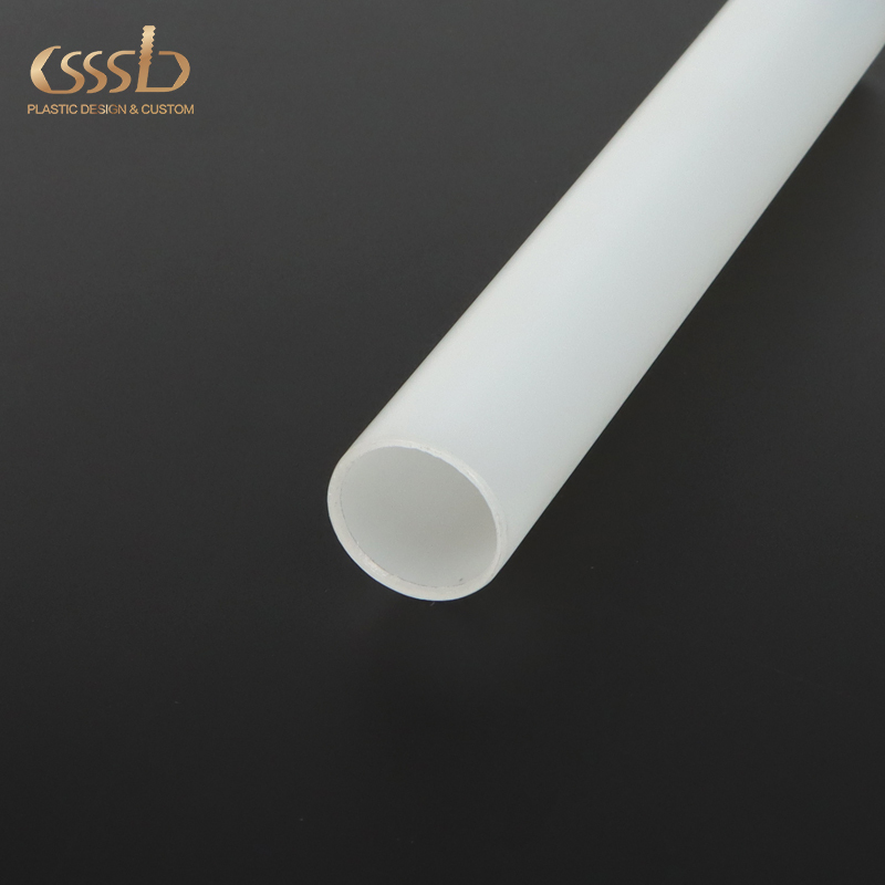 HDPE white round pipe with 20-40mm diameter