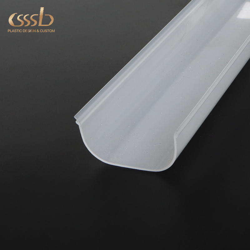 plastic opal PC extrusion lighting profile for LED strip light