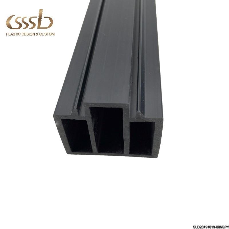 BLACK PVC EXTRUDED PROFILE SUPERMARKET DOOR FRAME Bevel splicing PLASTIC DOOR WINDOW FRAME