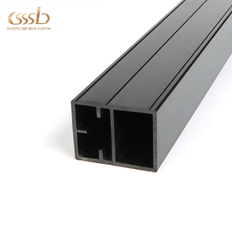 PVC rectangular speed guide profile for machine assembly line factory customized shape and sizes
