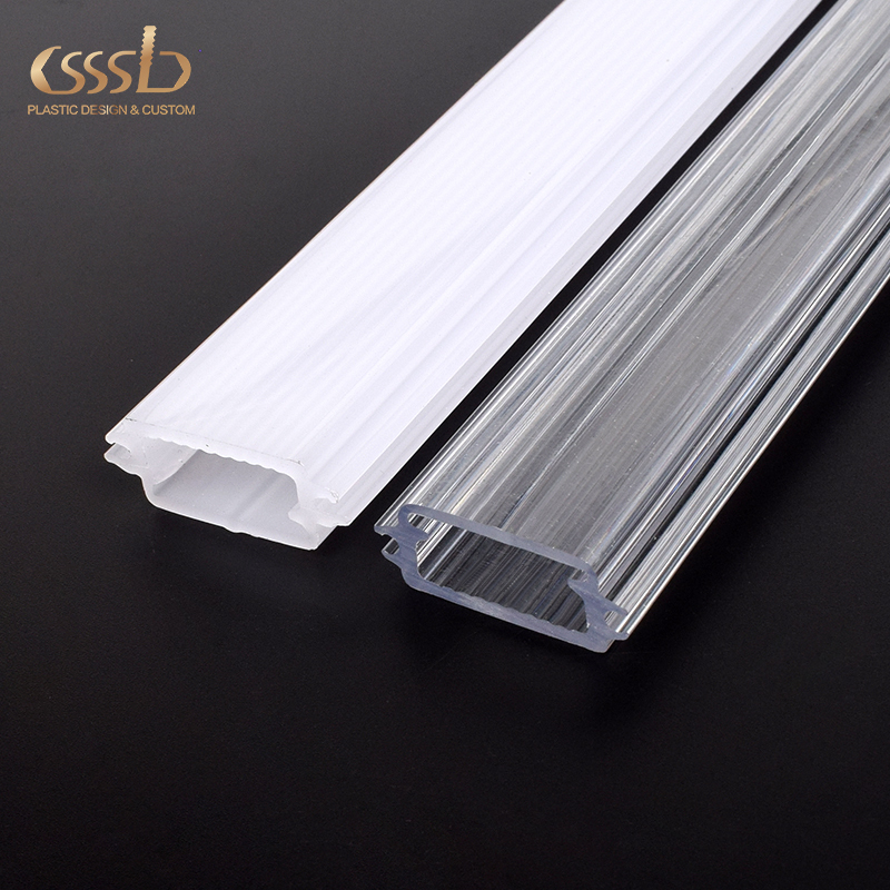 Extrusion profiles plastic clear cover for Polycarbonate led light diffuser