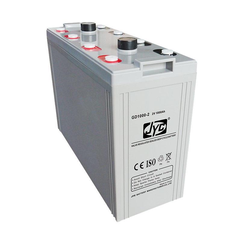 Long power life deep cycle solar battery 2v 1000ah
