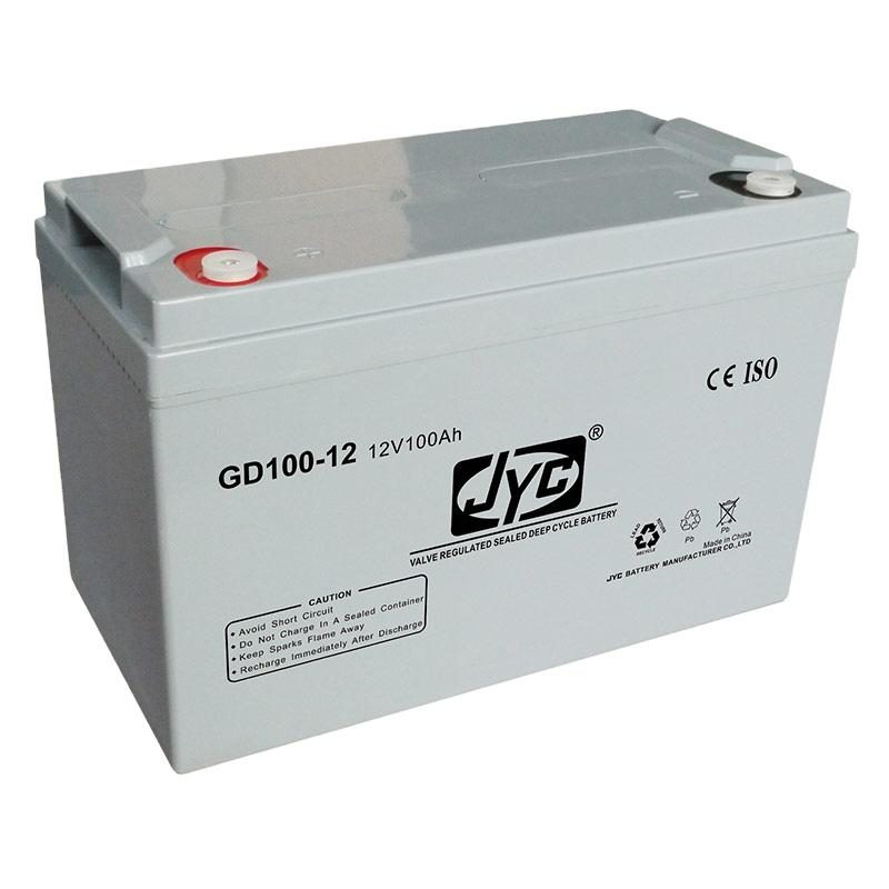 JYC 12V 100Ah AGM Deep Cycle Solar Battery for UPS Solar Wind Energy System