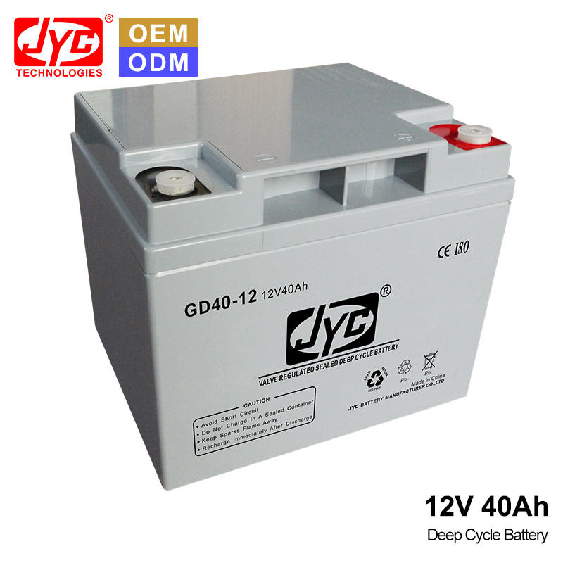 JYC VRLA Deep Cycle Batteries Battery Manufacturing Process AGM Gel 12 Volt 12V 40ah Home Appliances Electric Power Systems