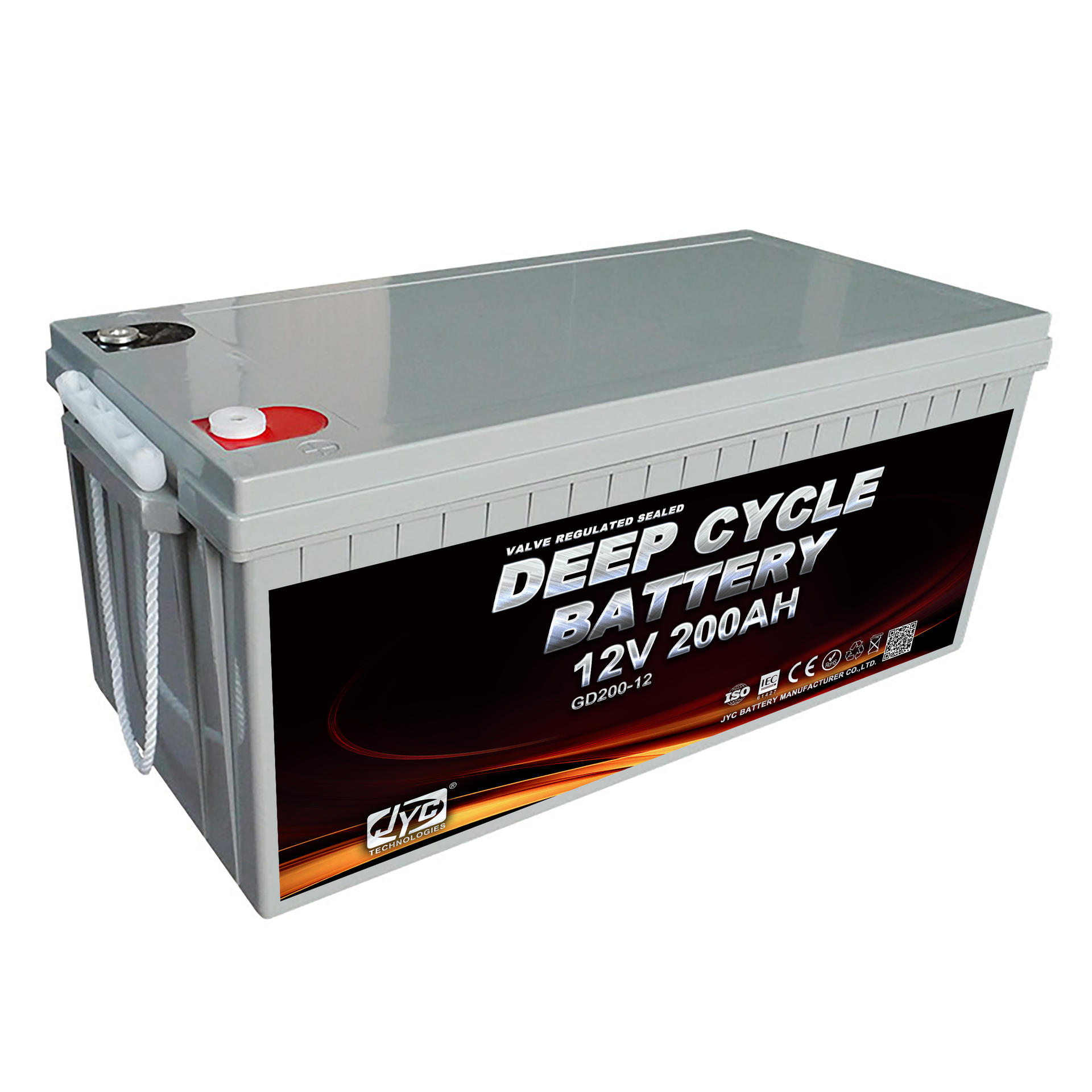 JYC Battery Manufacturers 12V 200AH 1S10P Formed Deep Cycle Battery 12V 2000Ah for Solar or Home Storage