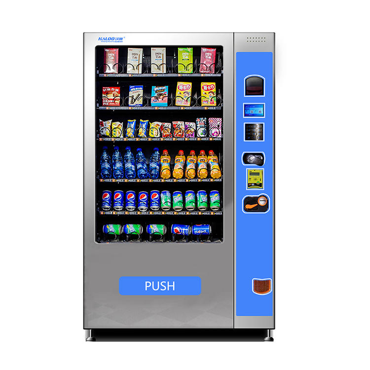 Vending machine snacks and drinks & combo vending machine with 360 big capacity
