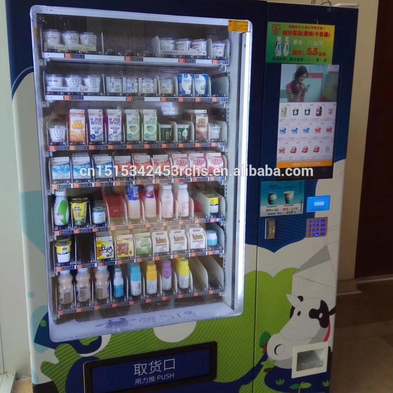 Hot sale school milk vending machine with advertisement