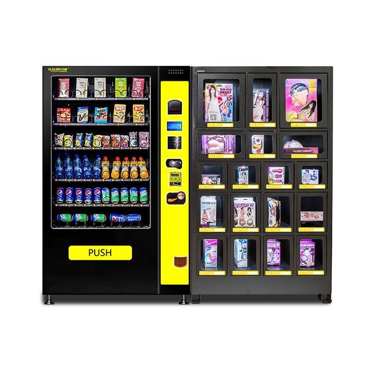 customized black vending machine and black combo vending machine