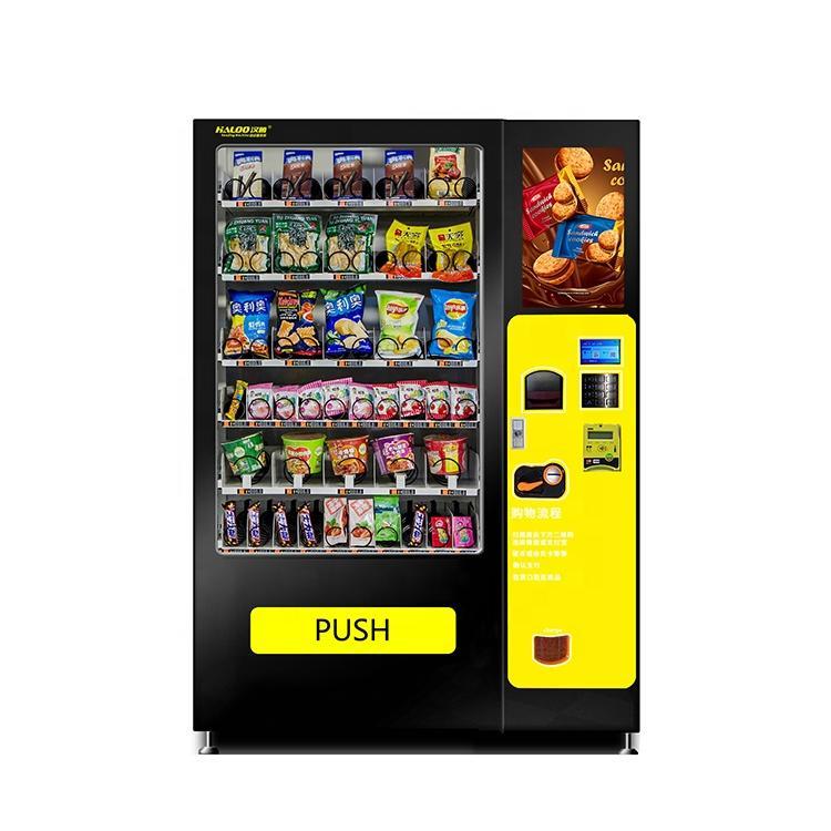 biscuit bread cookies cracker hamburgers snack vending machine with big screen