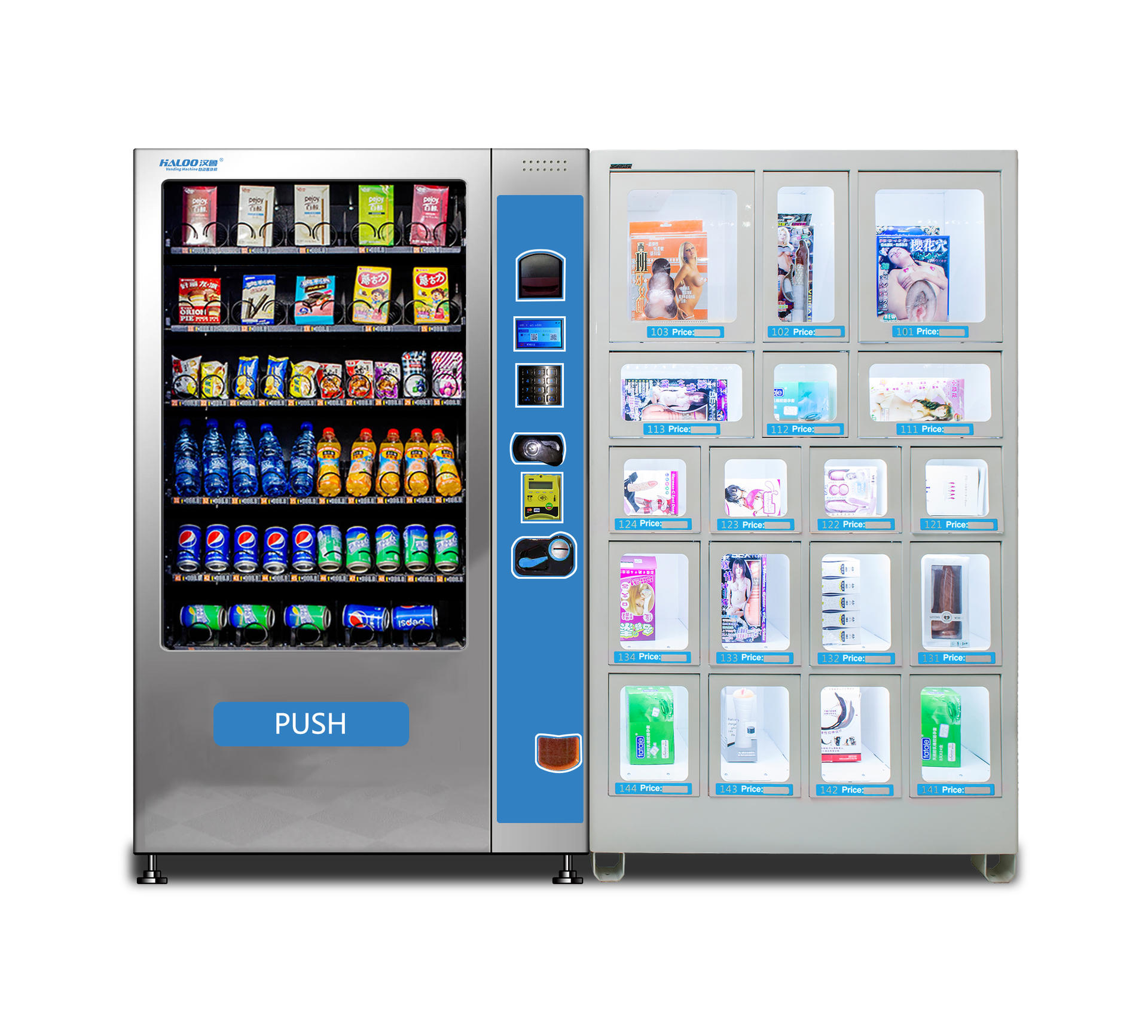 book magazine and news paper vending machine with 30 selection for airport