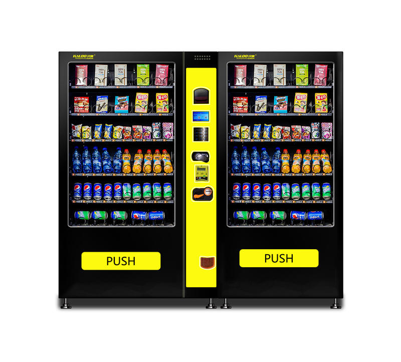 Outdoor large capacity credit card payment snack drink vending machine with touch screen