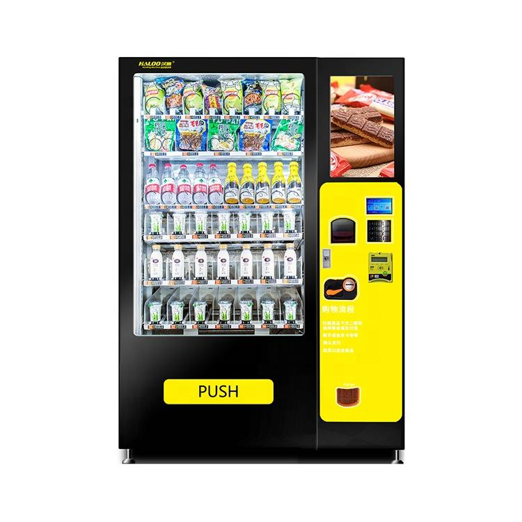 factory supply drink and milk vending machine with screen