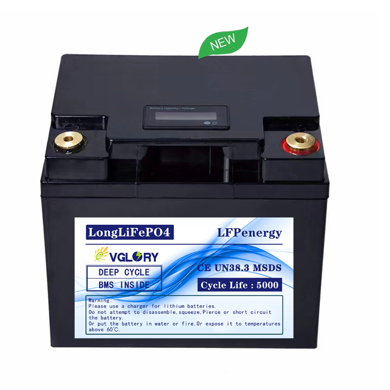Accredited CE high density deep cycle lithium battery 12 v