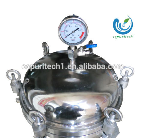 Sanitary Sediment Filter Stainless Steel Cartridge Housing