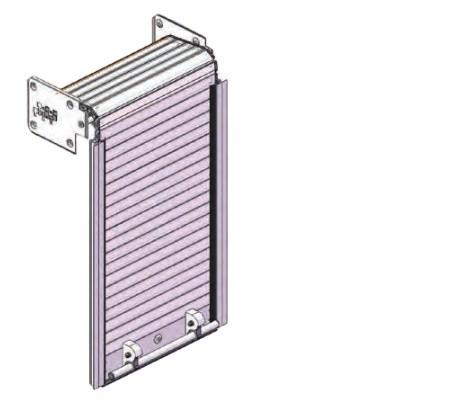 China Custom Electric and Manual Aluminium Rolling Shutter Door for firetrucks