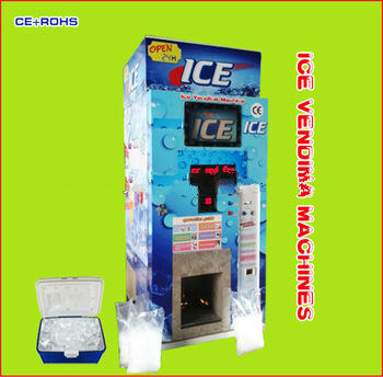 Factory Price 24 hours self service commercial auto sealing bag Ice Vending Machine with 450KG big production