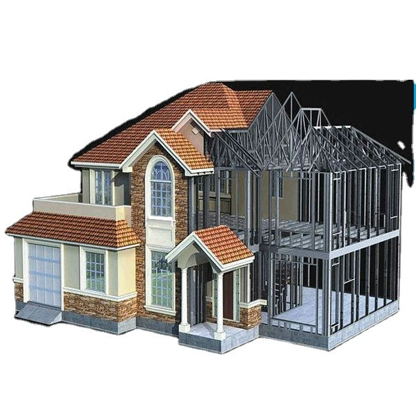 China Factory Hot Sale Cheap Price Luxury Prefab Villa Light Steel Structure Villas for Sale
