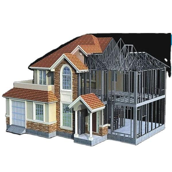 Luxury Customized Houses Light Steel Prefab Villa for modern cheap hous with light steel
