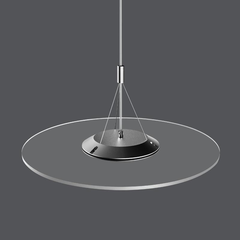 2020 HOTAluminium Profile Nano PMMA Plate Up-down half-half Lighting Suspension Round Transparent LED Panel Light