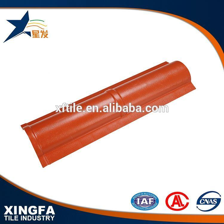 Green and environment friendly wpc clay roof ridge tile