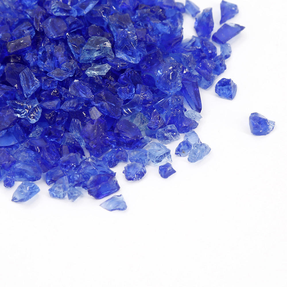 Dark Blue Crushed Glass Chips for Quartz Surfaces Used in Bathroom Vanities