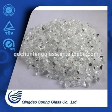 Light-Grey-Faced Crushed Mirror Particles Top Quality Product