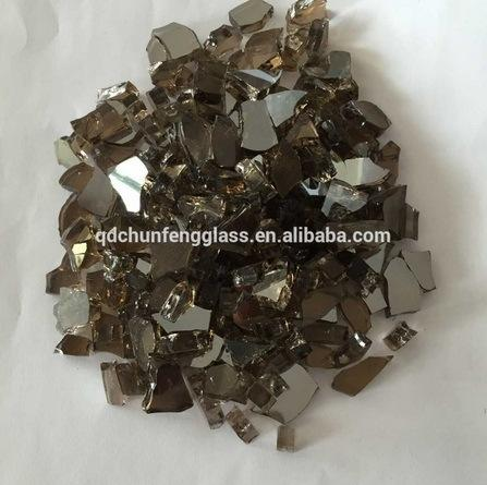 Reflective Glass Filler for Fireplace Decoration